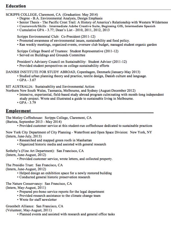 Sample Barista Example Resume Examples Resume Cv