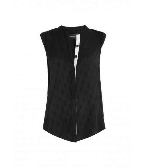 top for woman texas jac deluxe black-Zadig