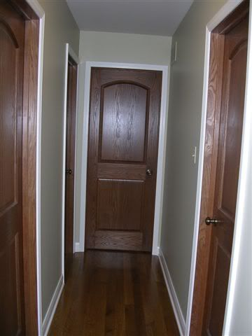 Painted Trim With Real Wood Doors I Was Wondering What It Would