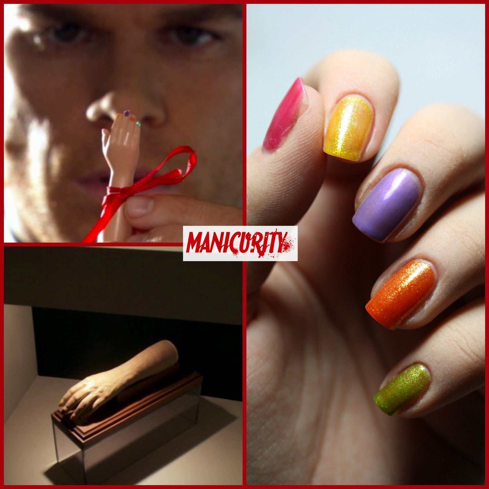 Dexter Inspired Nails From Season 1 Episode 2 Nails Nails Inspiration Bunny Nails