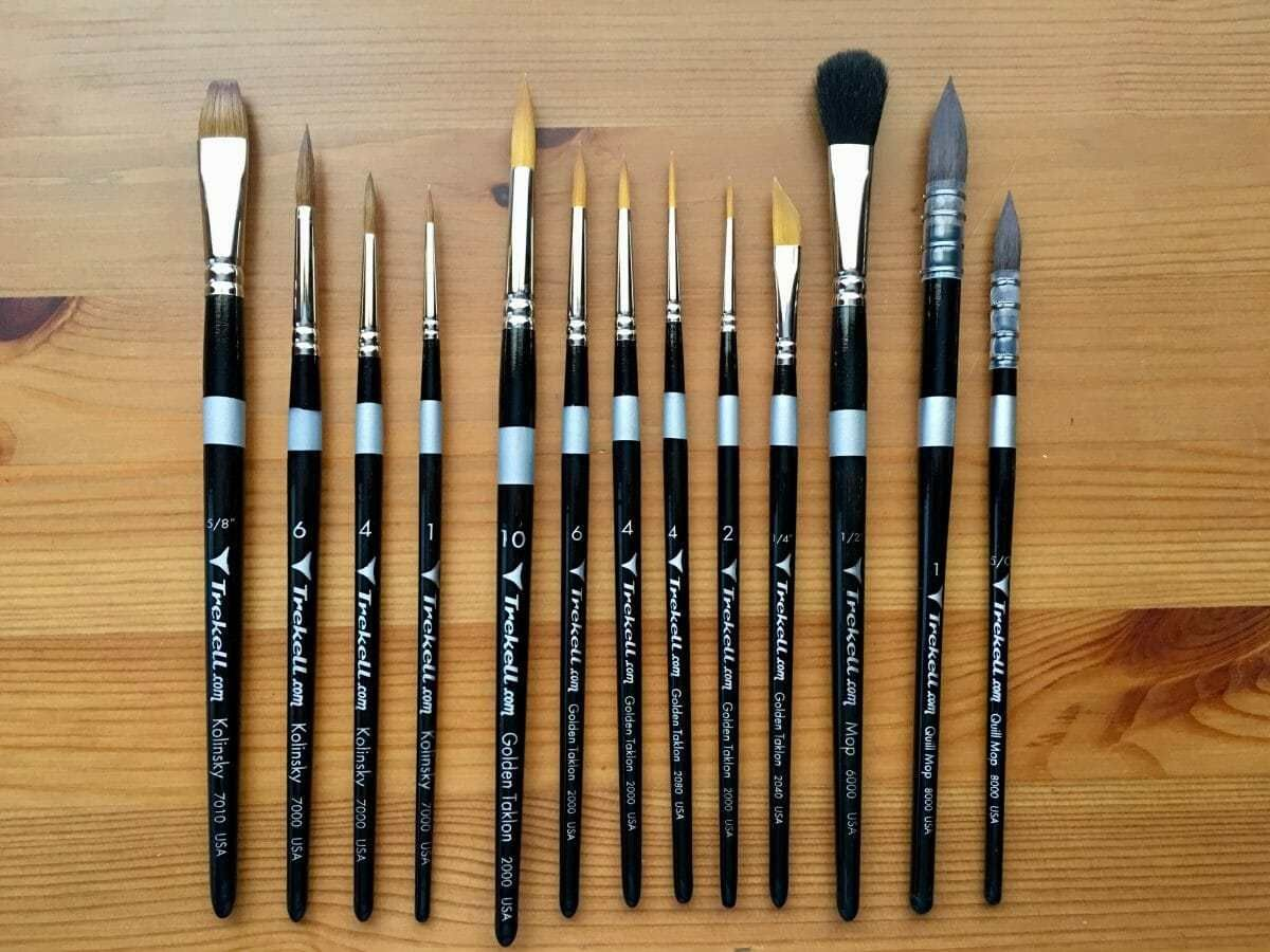 Doodlewash Review Trekell Brushes Watercolor Brushes Painting