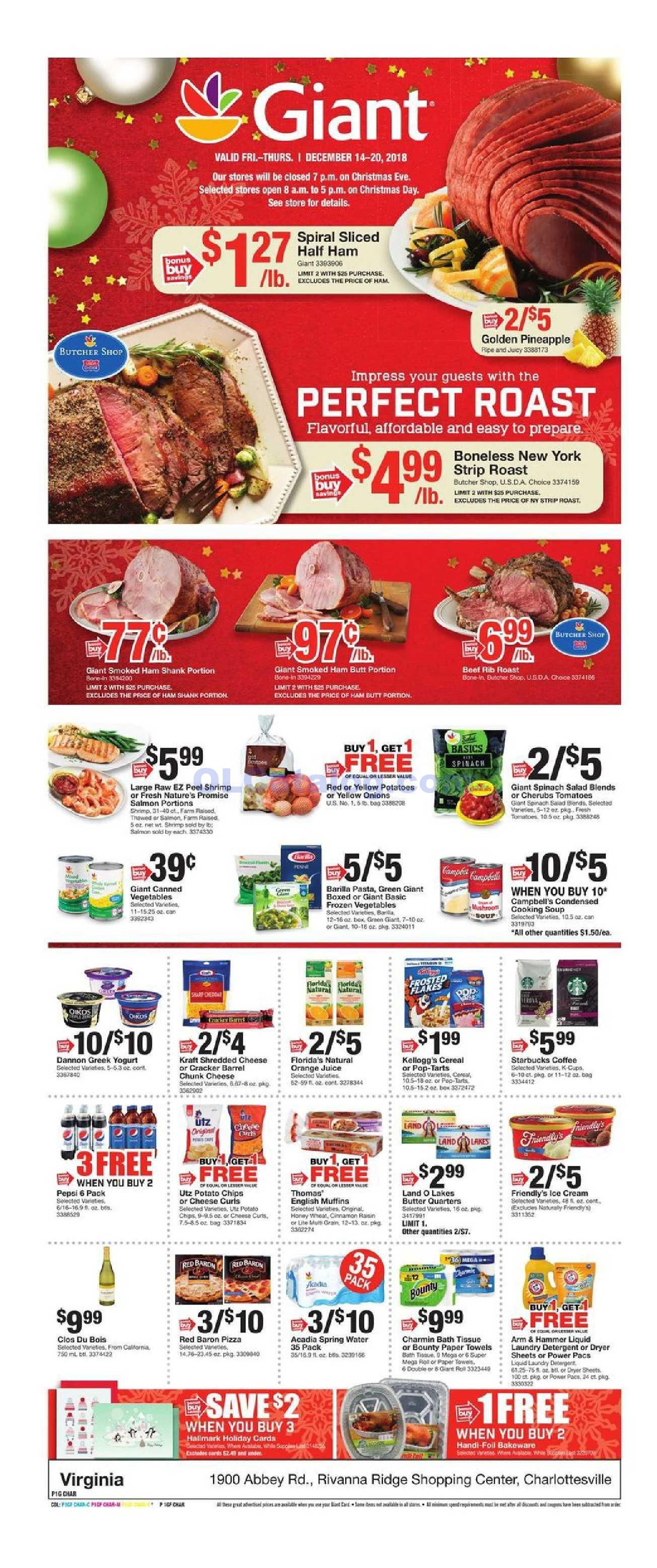 Giant food weekly ad december 14 20 2018 do you know