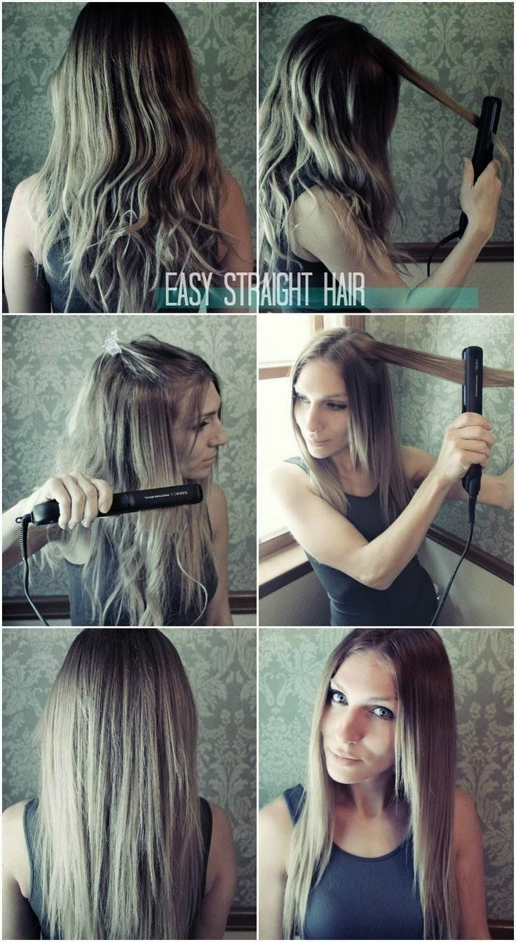 Easy Straight Hairstyles For Girls How To Straighten Hair Popular Haircuts Straight Hairstyles Thick Hair Styles Hair Styles