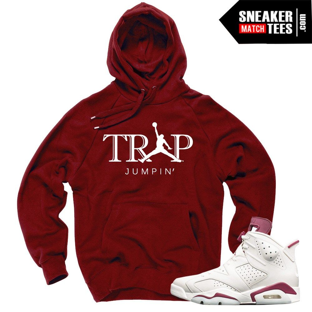 07afb3d1f5e116 Sneaker Tees Match Jordan 6s Maroon