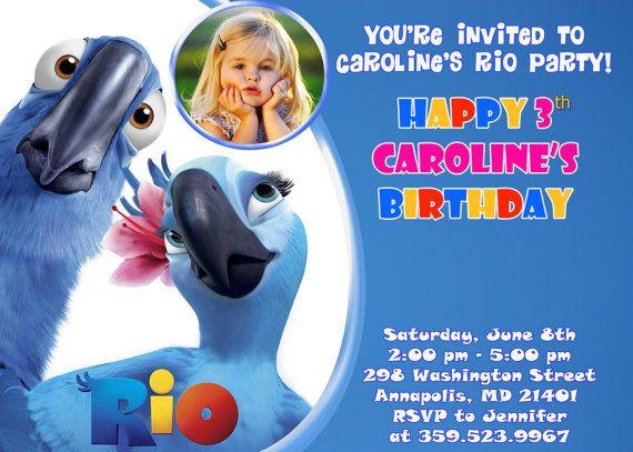Rio Birthday Party Invitation  Printable by FabulousInvitation, $8.99