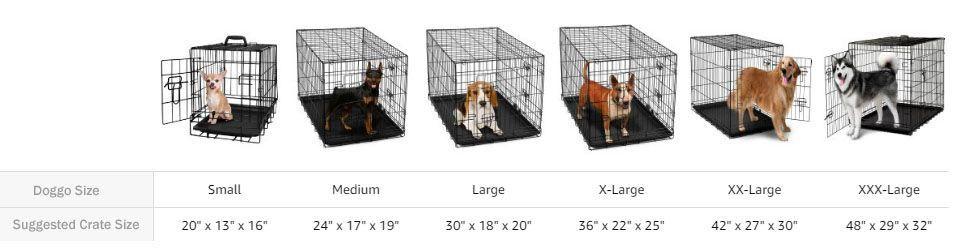 New Dog Crate Size Chart Dog Crate Sizes Large Dog House Dog Cages
