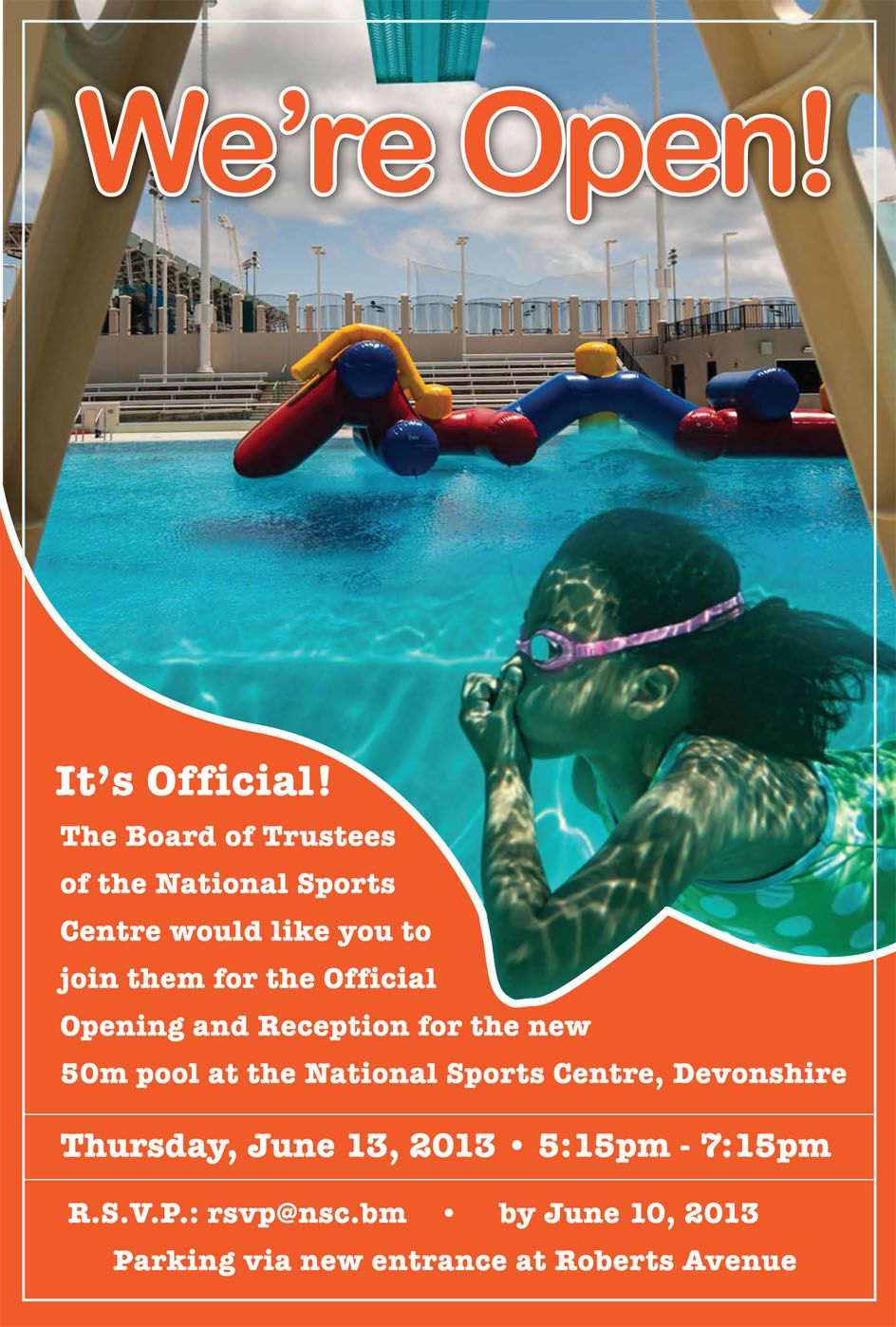 Invitation design for National Sports Centre official pool