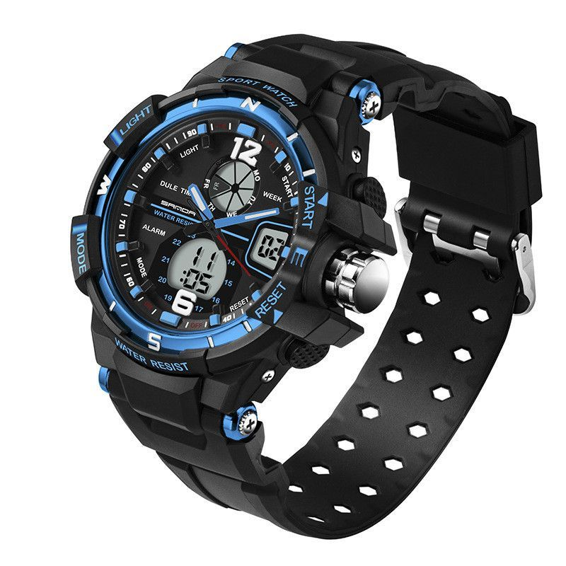 ff1743ba5a8 SANDA Fashion Watch Men G Style Waterproof LED Sports Military Watches  Shock Men s Analog Quartz Digital Watch relogio masculino