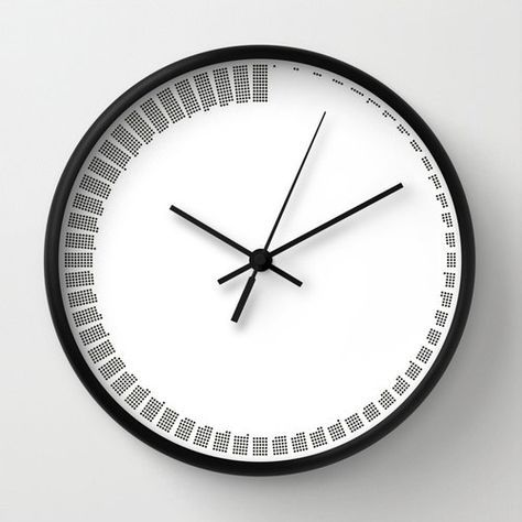 Simple Modern Wall Clock Black And White Minimal Sixty Minutes Clock Housewarming Gift Offic Wall Clock Black And White Wall Clock Modern Office Wall Clock