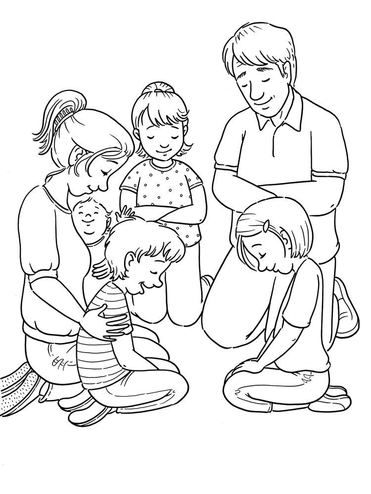 Free Prayer | Coloring Page for Kids, Download Free Clip Art, Free ... | 1000x750