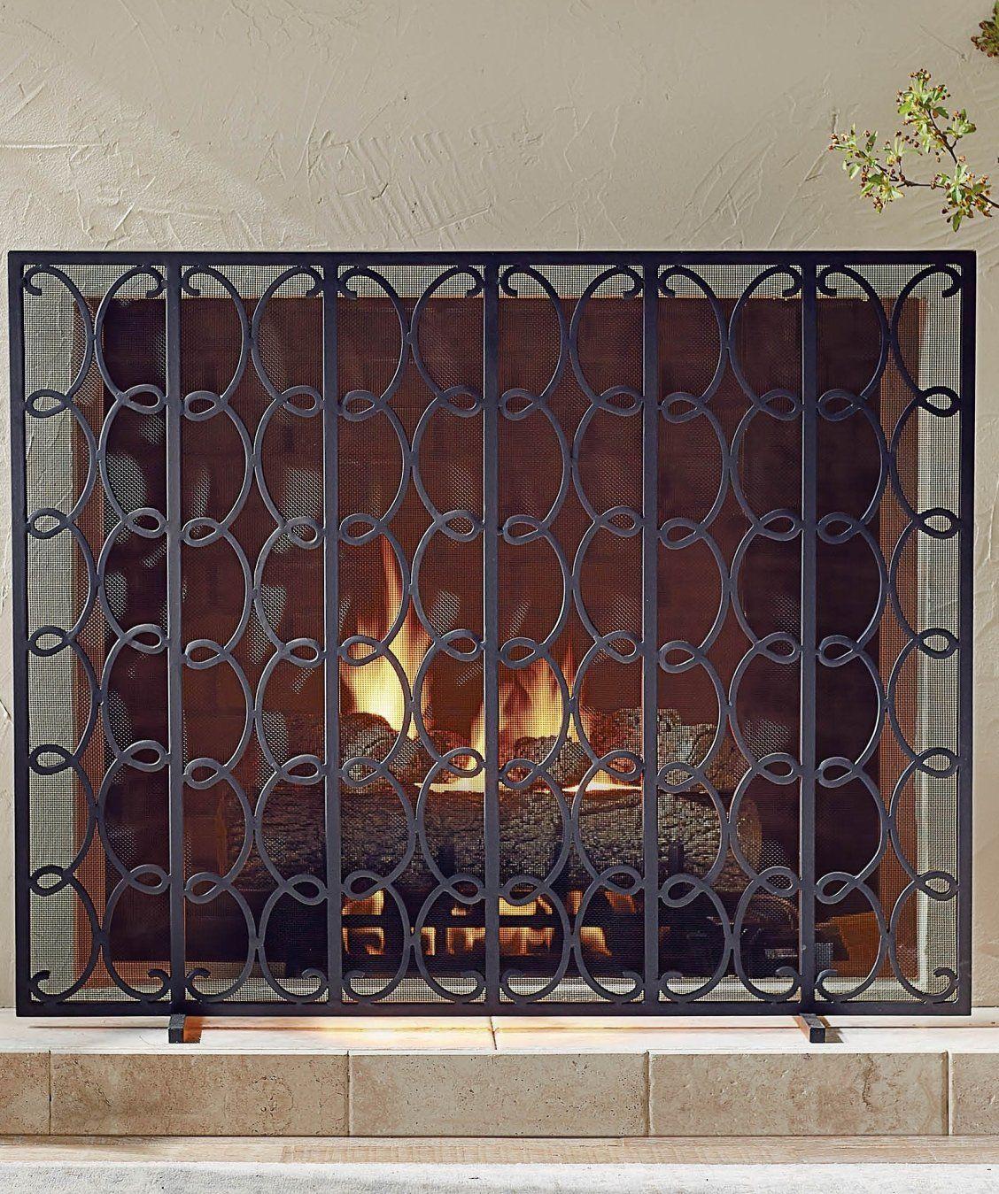 Enzo Fireplace Screen Fireplace Screens Fireplace Rustic