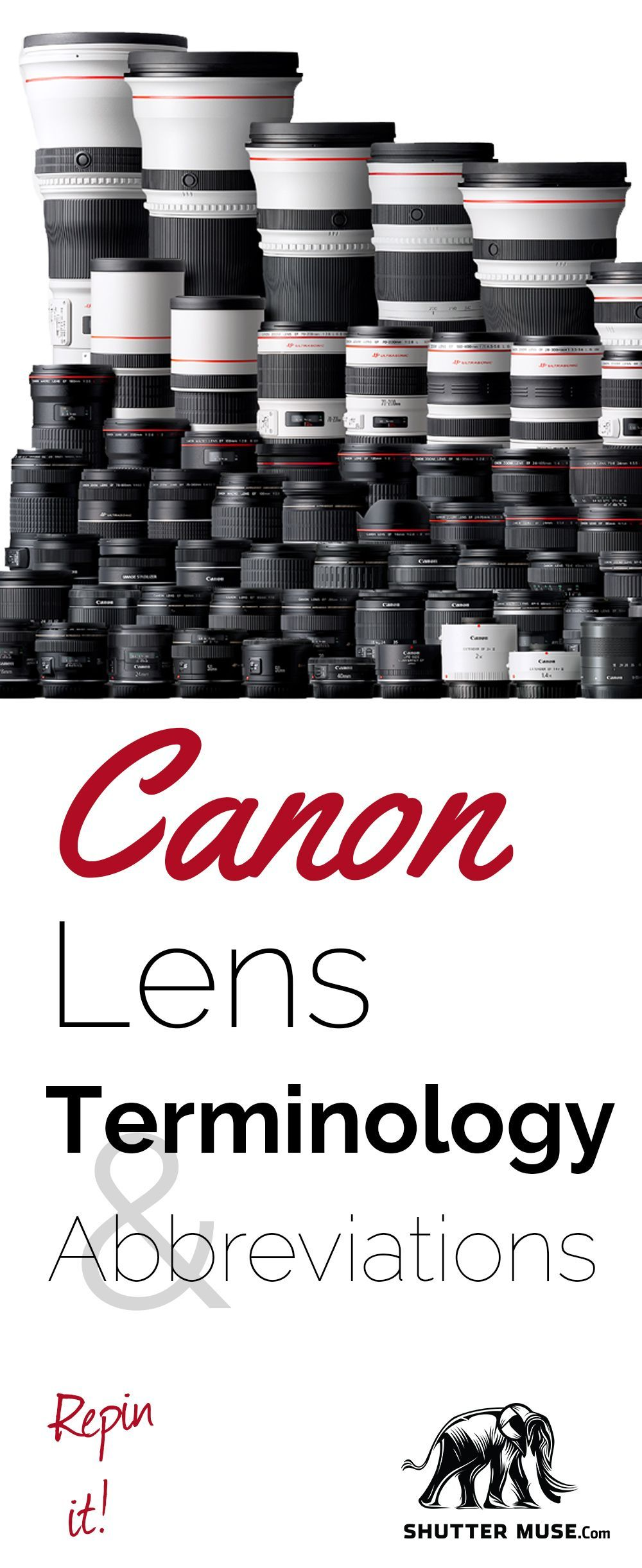 check out this great guide to canon lens terminology and rh pinterest com canon lens buying guide canon lenses guide