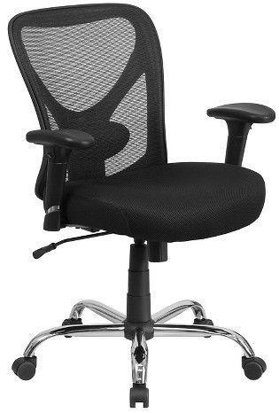 Hercules Series 400 Lb Capacity Big Tall Swivel Task Chair Black Mesh Flash Furniture Mesh Office Chair Tall Office Chairs Office Chair
