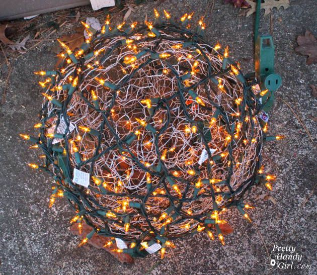 How to make giant lighted ornament balls tutorials craft and yule how to make giant lighted ornament balls aloadofball Image collections