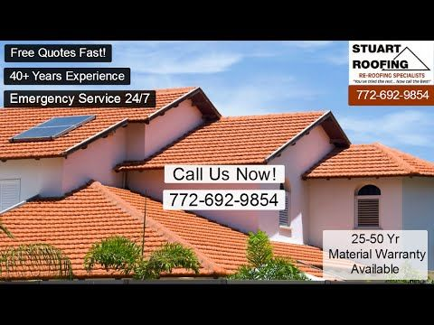 Roofer Palm City Fl Residential Roofing Contractor Roofing Repairs And New Roof Installation Youtube Roof Installation Palm City Residential Roofing
