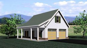 Photo of Traditional Style 2 Car Garage Plan Number 47070