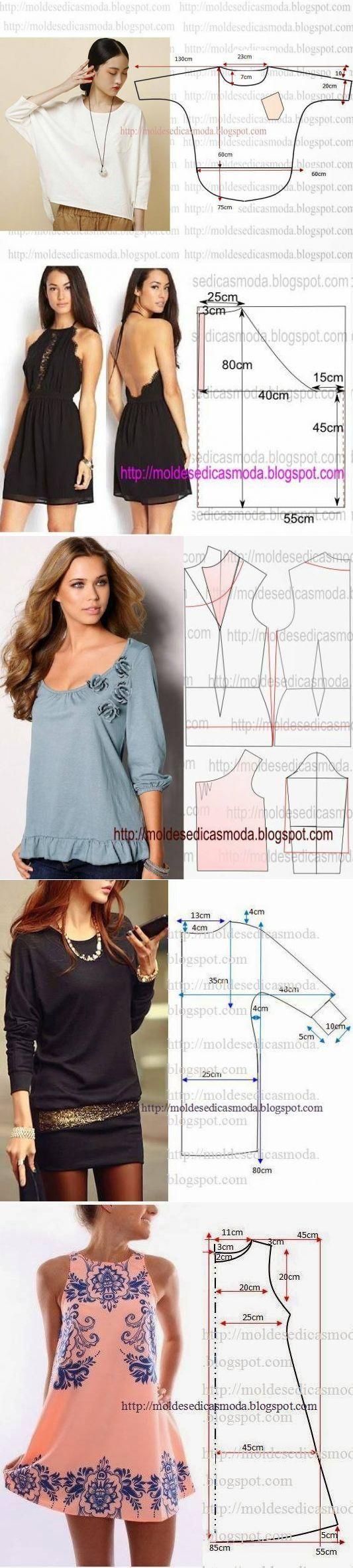 Модели блузонов с выкройками фото 984