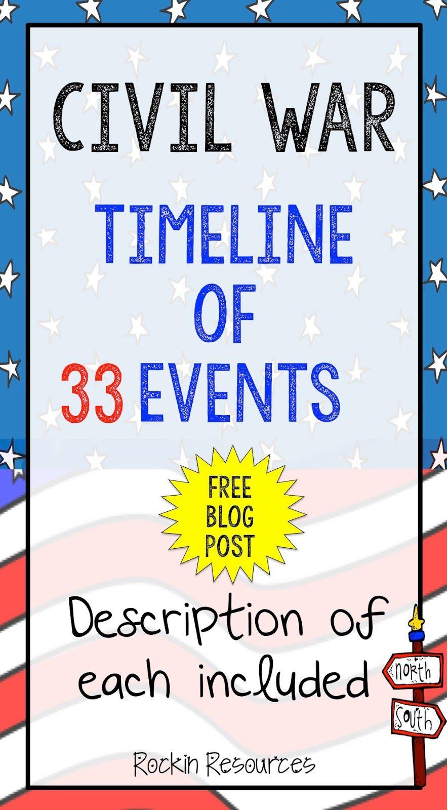 worksheet Civil War Timeline Worksheet civil war timeline study ideas social studies and literacy timeline