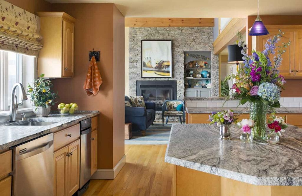 Fireplace Wall Design Ideas | Maple cabinets, Maple ...