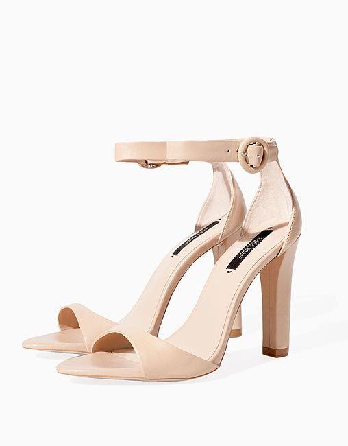 Zapatos Color Nude Trafaluc By Zara - $ 499.00 en Mercado