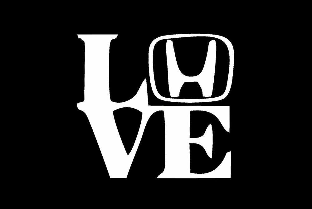 love my honda w h letter car decal sticker jdm jdm pinterest