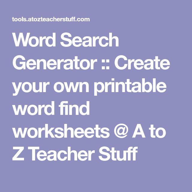This is an image of Crafty A to Z Teacherstuff Com