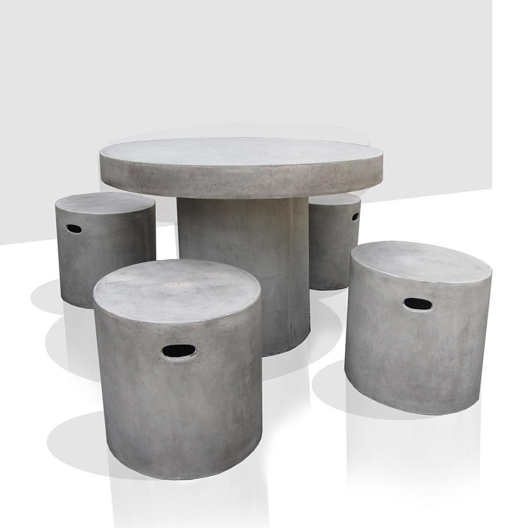 Round Dining Table and Stools #grc #lightweightcement ...