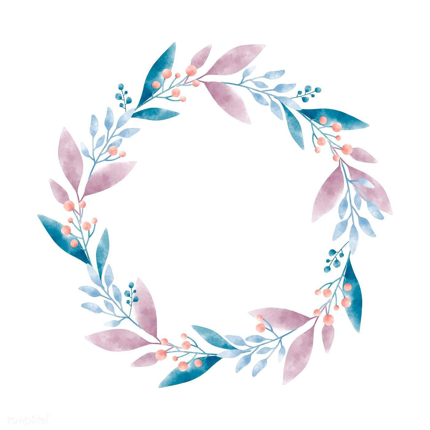 Download Premium Vector Of Watercolor Wreath Graphic Vector Design