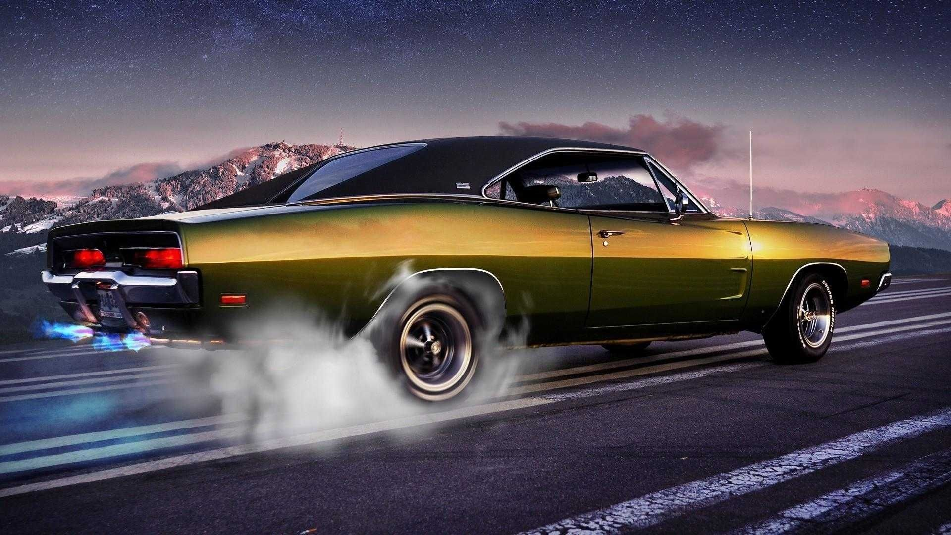 10 Top Classic Muscle Cars Wallpapers FULL HD 1920×1080