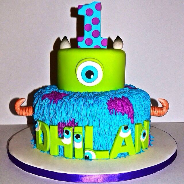 Cool Monsters Inc Birthday Cake Monster Inc Birthday Monster Birthday Parties Baby Boy 1st Birthday Party