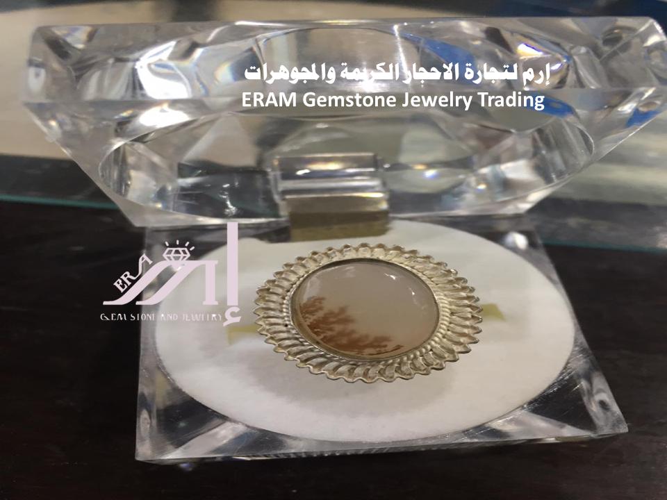 خاتم عقيق يمني نسائي مشجر طبيعي 100 Agate Gemstones Gemstone Jewelry Jewelry