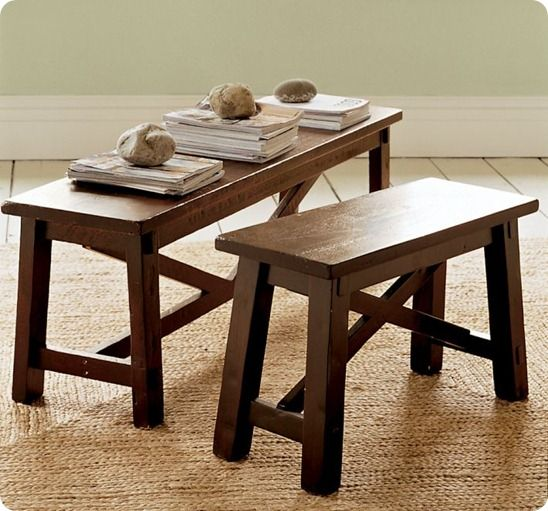 Kitchen table bench DIY building plans