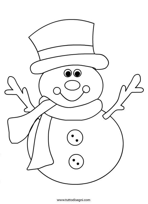 Disegni Inverno Da Colorare Pupazzo Di Neve Ricamo