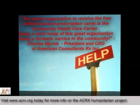 CHCC Receive Tribute & Free Medication Help by Charles Myrick of ACRX