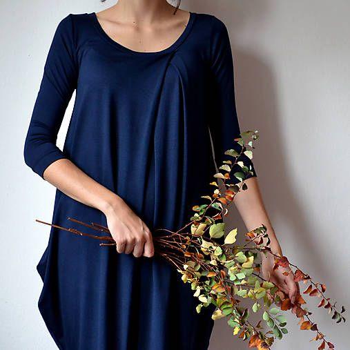 -anuk- / Šaty WIDE Prussian Blue