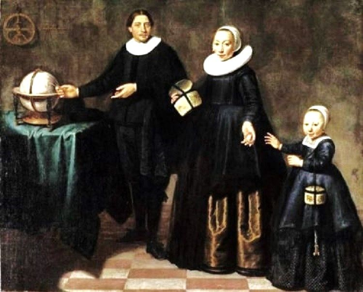 1640s Jacob Gerritsz Cuyp (Dutch artist, 1594 – 1650) Abel Janszoon Tasman (1603-1659) and his Family
