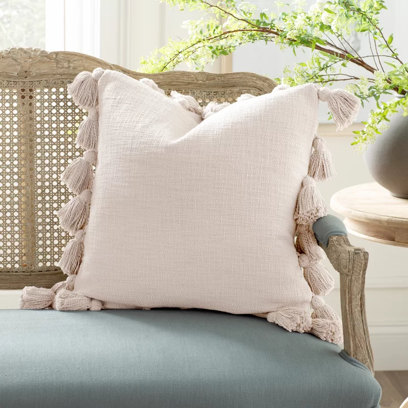 Interlude Luxurious Square Cotton Pillow Cover And Insert In 2021 Throw Pillows Cotton Pillow Pillows