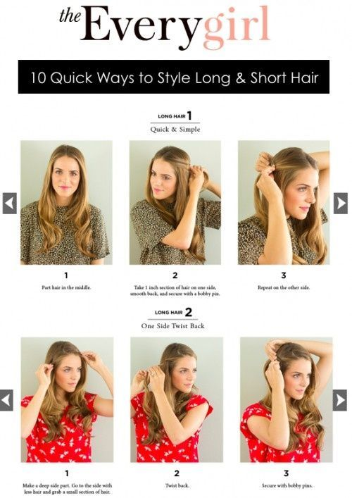 10 Quick Ways To Style Long Hair I Tried All Of These And Loved Http Twistbraidhairstyles Blogspot C Long To Short Hair Long Hair Styles Short Hair Styles