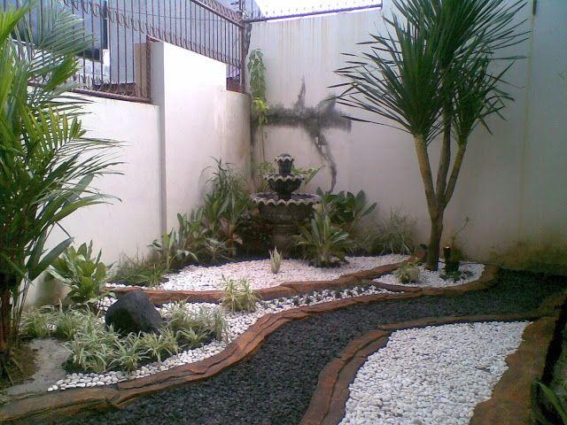 Desain Taman Kering Rumah Bu Robby Di Pelita Monginsidi Tanaman
