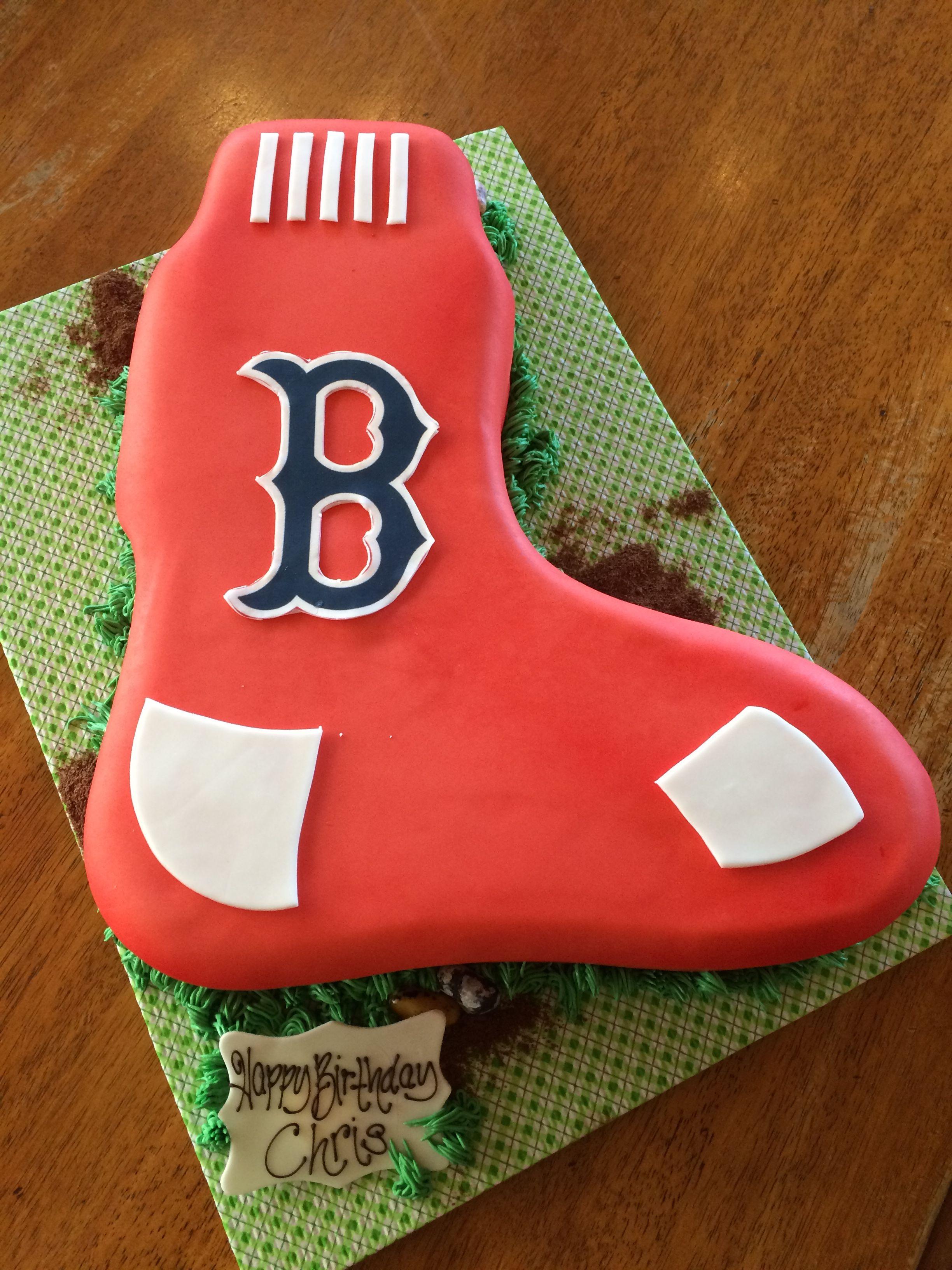 Boston Red Sox shaped birthday cake | Pastry&dessert | Pinterest ...