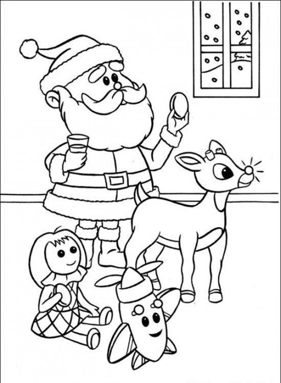 Rudolph the Red-Nosed Christmas Reindeer Coloring Pages | Colore@ mi ...