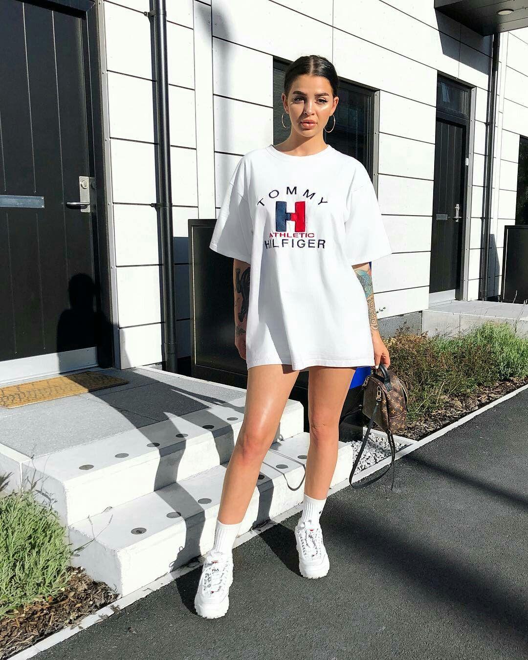 Pinterest Rebelxo7 Tshirt Dress Outfit Oversized T Shirt Dress Oversized Shirt Outfit [ 1350 x 1080 Pixel ]