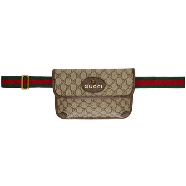 64947ab8d12e Gucci Brown Neo Vintage GG Supreme Belt Bag ($665) ❤ liked on Polyvore  featuring brown