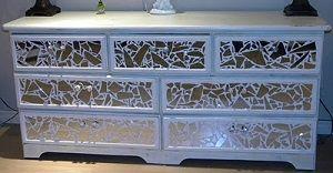 Ms Bingles Vintage Christmas Broken Mirror Dresser Diy Re Do