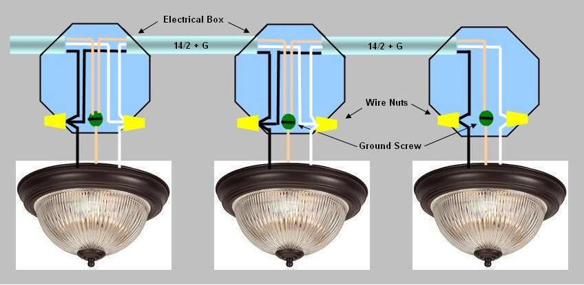 Wiring Multiple Lights Off Of An Existing Light Electrical Diy Chatroom Diy Home Improvement Forum Diy Electrical Light Fixtures Can Lights
