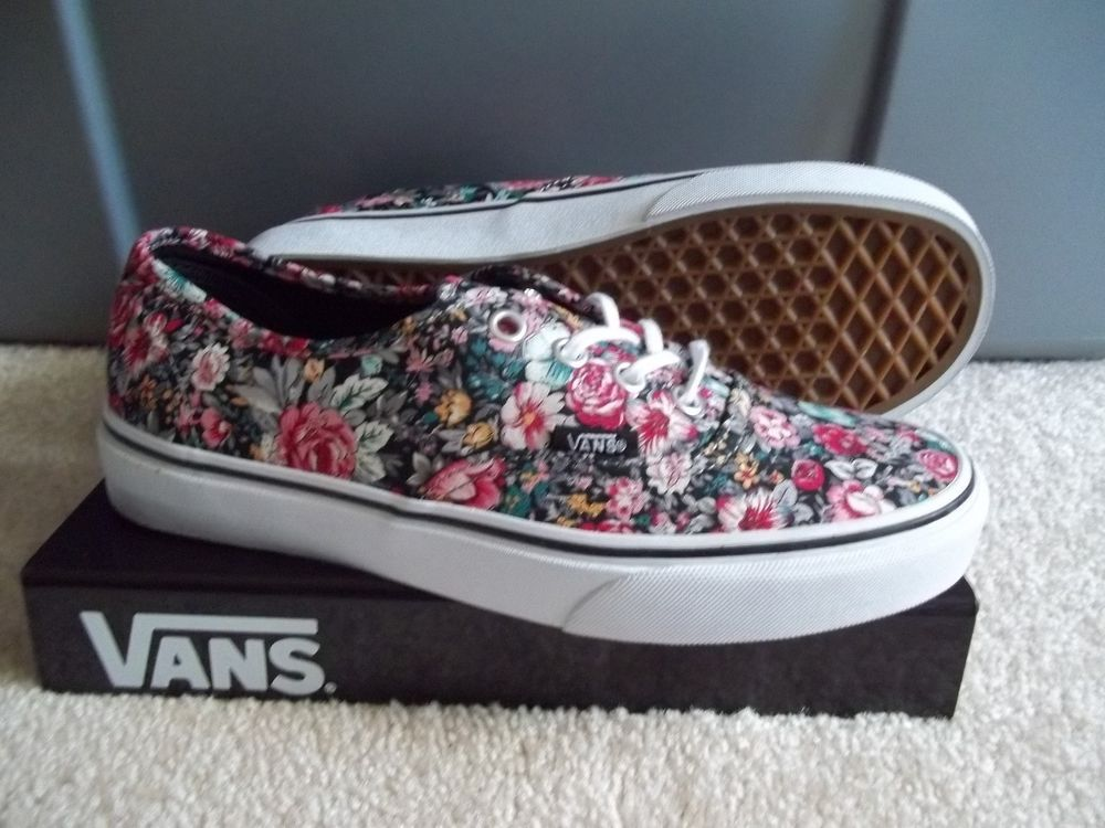 a0407c20edf32f NWT WOMANS VANS AUTHENTIC (MULTI FLORAL)SNEAKERS SHOES.SIZE 7.NEW FOR 2014  . NEW