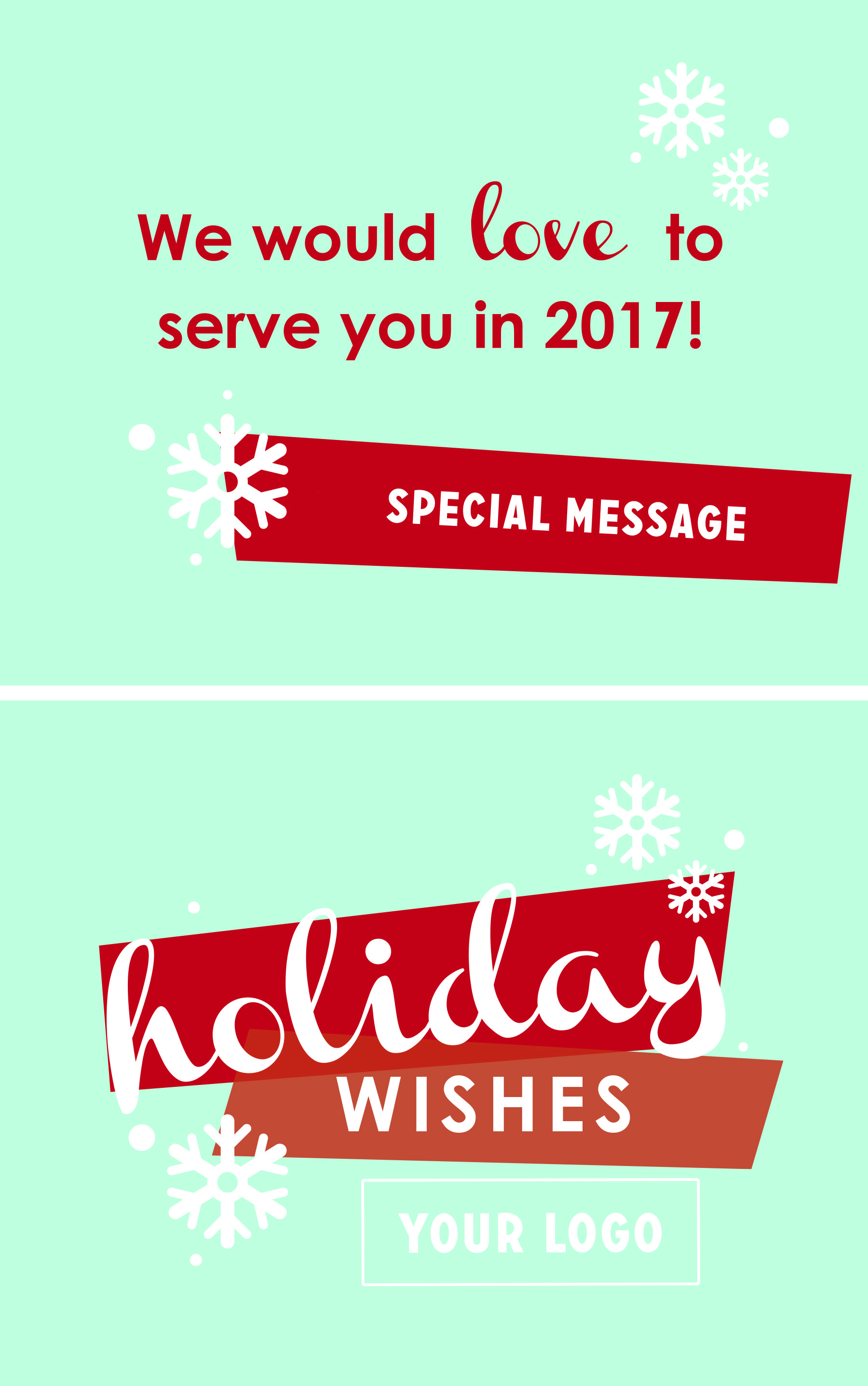 Holiday Greeting Card Design Front And