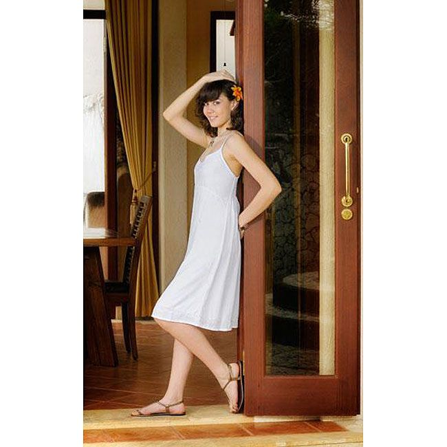 Women's White Sun Dress (Indonesia) - Overstock Shopping - Great Deals on 1 World Sarongs Women's Clothing