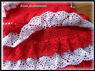 Tejidos realizados con amor para ti ...: Vestido rojo.