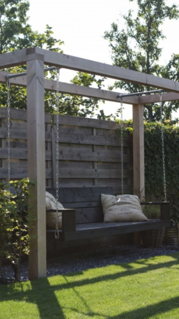 a swing near our fire pit in backyardNeed a swing near our fire pit in backyard Large and varied garden design portfolio from garden design company ALDA Landscapes 44 Ban...